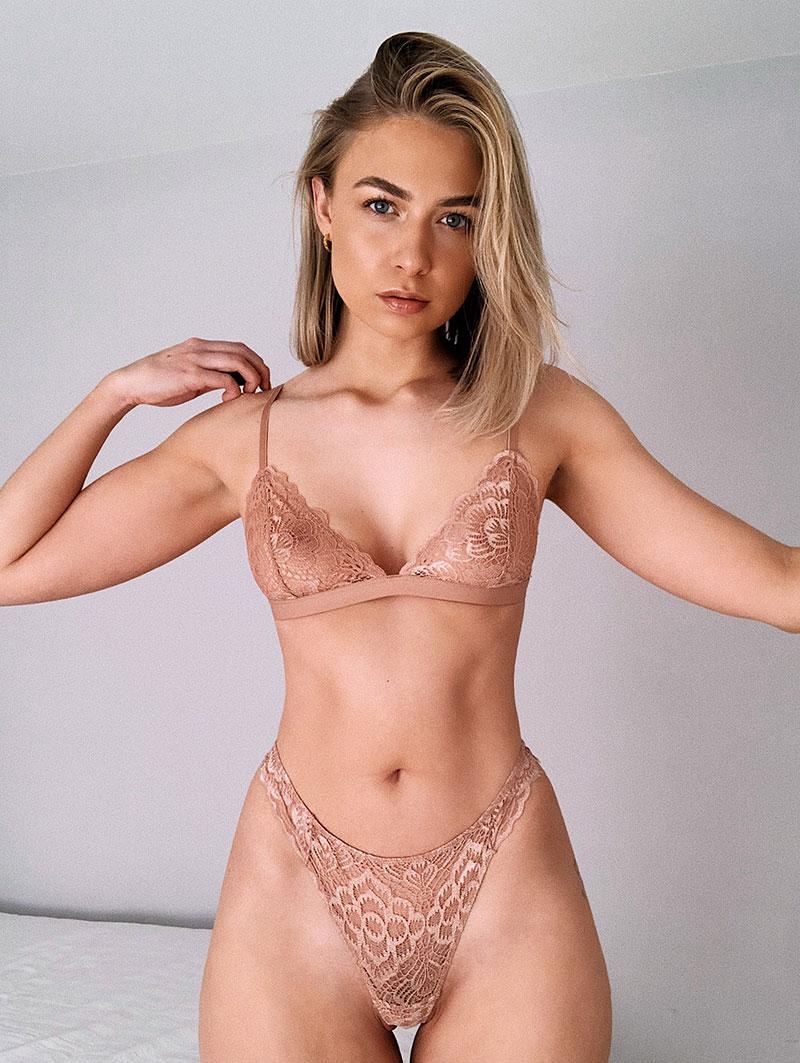mimi gold sexy model lingerie