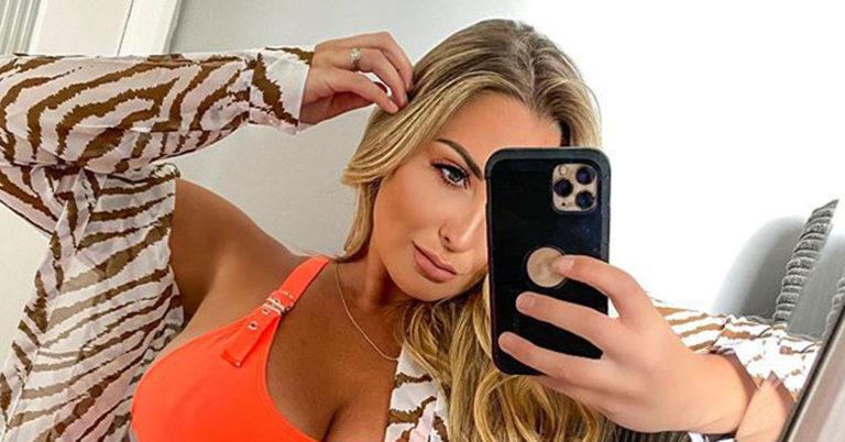 daisy taylor orange bikini selfie