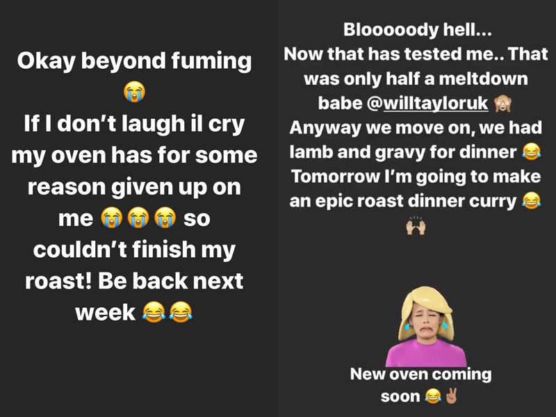 daisy taylor oven instagram