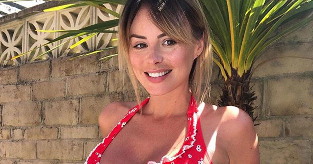 rhian sugden red bikini