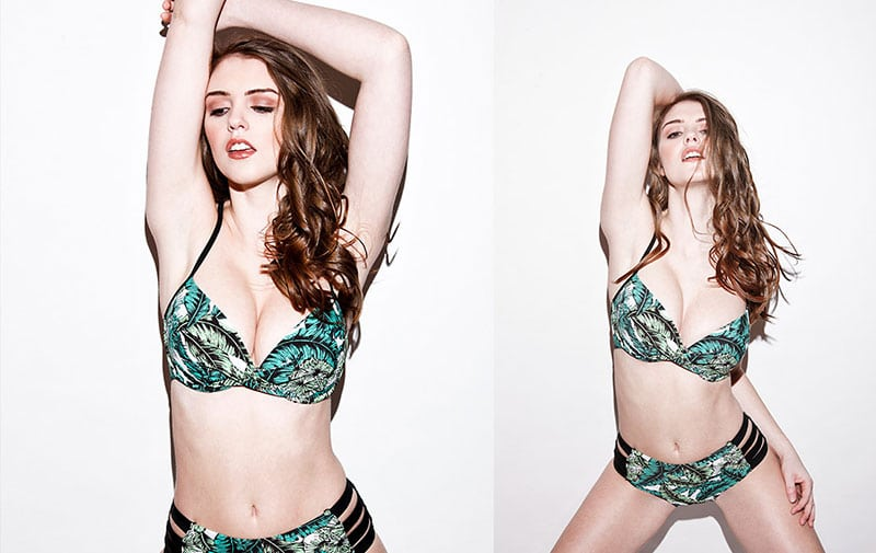 rosie danvers green bikini