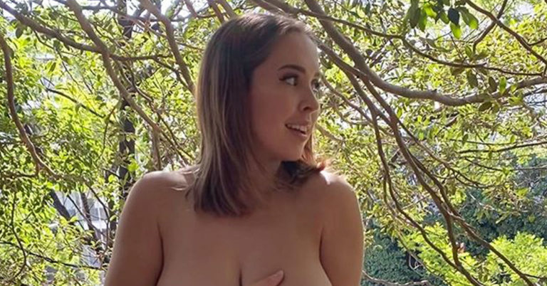 ruby may topless outdoors