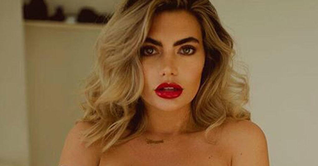 megan barton-hanson red lipstick