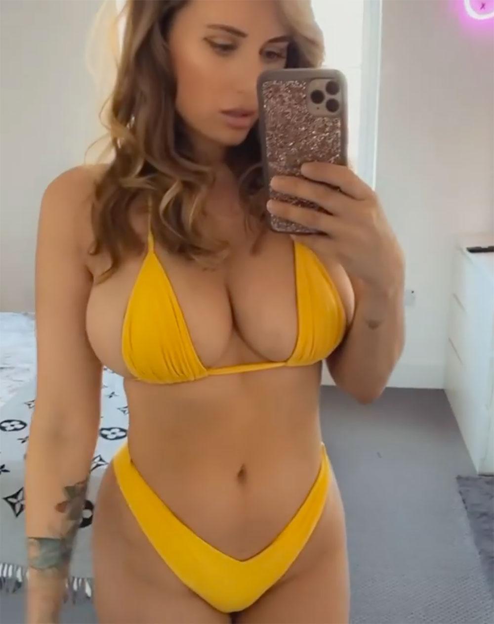 sammy braddy yellow bikini